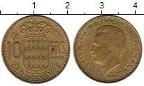 Изображение Монеты Монако 10 франков 1950 Латунь XF Ранье III