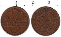 Изображение Монеты Европа Польша 2 гроша 1932 Бронза XF