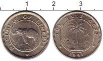 Изображение Монеты Либерия 1/2 цента 1941 Медно-никель UNC- Слон