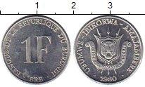 Изображение Монеты Бурунди 1 франк 1980 Алюминий UNC-