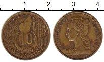 Изображение Монеты Африка Мадагаскар 10 франков 1953 Латунь XF