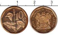 Изображение Монеты Африка ЮАР 10 центов 1993 Латунь Proof-