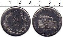 Изображение Монеты Азия Турция 2 1/2 лиры 1970 Сталь XF