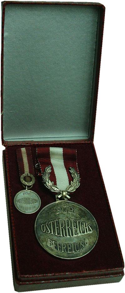 Изображение Значки, ордена, медали Австрия Медаль 0 Посеребрение UNC `Почётный знак ``За