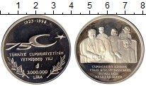 Изображение Монеты Турция 3000000 лир 1998 Серебро Proof-