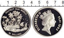 Изображение Монеты Австралия и Океания Фиджи 10 долларов 1993 Серебро Proof-
