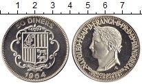 Изображение Монеты Андорра 50 динерс 1964 Серебро Proof-
