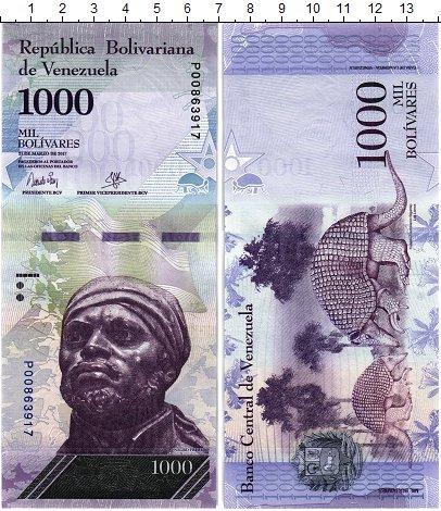 Изображение Банкноты Венесуэла 1000 боливар 2017  UNC