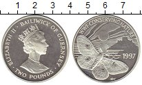 Изображение Монеты Великобритания Гернси 2 фунта 1997 Серебро Proof-