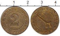 Изображение Монеты Германия Бремен 2 пфеннига 1924 Латунь XF