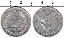 Изображение Монеты Южная Америка Чили 10 песо 1958 Алюминий XF-