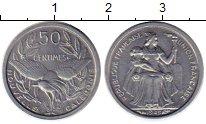 Изображение Монеты Франция Новая Каледония 50 сантим 1949 Алюминий UNC