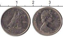 Изображение Монеты Канада 10 центов 1971 Медно-никель VF Елизавета II