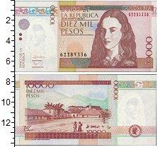 Изображение Банкноты Колумбия 10000 песо 2011  UNC Деревня