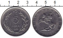 Изображение Монеты Турция 5 лир 1975 Медно-никель UNC-