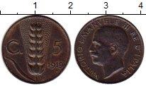Изображение Монеты Италия 5 сентесим 1919 Бронза XF