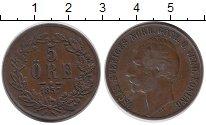 Изображение Монеты Европа Швеция 5 эре 1857 Медь XF
