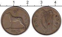 Изображение Монеты Ирландия 6 пенсов 1947 Медно-никель XF