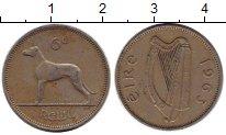 Изображение Монеты Ирландия 6 пенсов 1963 Медно-никель XF