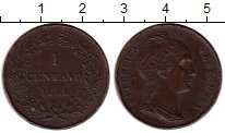 Изображение Монеты Венесуэла 1 сентаво 1853 Медь XF-