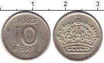 Изображение Монеты Европа Швеция 10 эре 1962 Серебро XF