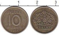 Изображение Монеты Европа Швеция 10 эре 1953 Серебро XF
