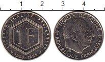Изображение Монеты Европа Франция 1 франк 1988 Медно-никель UNC-