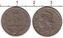 Изображение Монеты Южная Америка Аргентина 5 сентаво 1935 Медно-никель XF