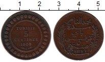 Изображение Монеты Тунис 5 сантим 1908 Бронза XF
