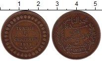 Изображение Монеты Тунис 5 сантим 1917 Бронза XF Французский протекто
