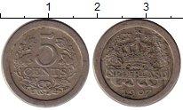 Изображение Монеты Нидерланды 5 центов 1907 Медно-никель VF+