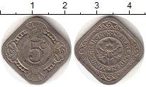 Изображение Монеты Нидерланды 5 центов 1936 Медно-никель VF