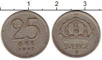 Изображение Монеты Швеция 25 эре 1949 Серебро VF