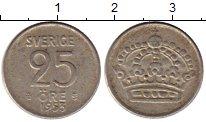 Изображение Монеты Швеция 25 эре 1953 Серебро VF