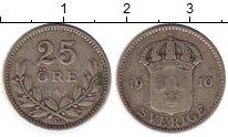Изображение Монеты Европа Швеция 25 эре 1910 Серебро VF