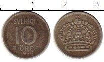 Изображение Монеты Европа Швеция 10 эре 1956 Серебро VF