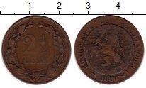 Изображение Монеты Нидерланды 2 1/2 цента 1880 Бронза VF