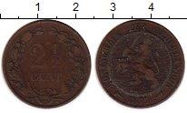 Изображение Монеты Европа Нидерланды 2 1/2 цента 1877 Бронза VF