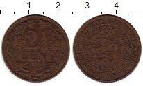 Изображение Монеты Нидерланды 2 1/2 цента 1915 Бронза VF