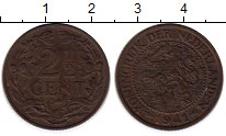 Изображение Монеты Европа Нидерланды 2 1/2 цента 1941 Бронза VF