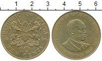 Изображение Монеты Африка Кения 10 центов 1986 Латунь XF