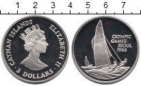 Изображение Монеты Каймановы острова 5 долларов 1988 Серебро Proof