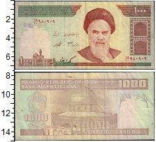 Изображение Банкноты Иран 1000 риалов 0  VF Печать 1992-2018 гг.