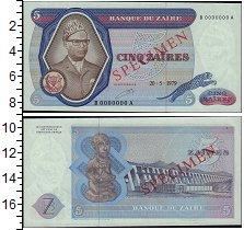 Изображение Банкноты Конго Заир 5 заир 1979  UNC