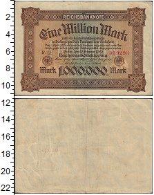 Изображение Банкноты Веймарская республика 1000000 марок 1923  VF+