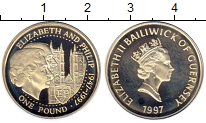 Изображение Монеты Великобритания Гернси 1 фунт 1997 Серебро Proof-