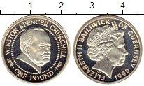 Изображение Монеты Великобритания Гернси 1 фунт 1999 Серебро Proof-