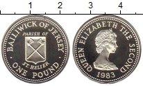 Изображение Монеты Великобритания Остров Джерси 1 фунт 1983 Серебро Proof