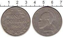 Изображение Мелочь Либерия 1 доллар 1968 Медно-никель XF