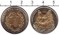 Изображение Монеты Турция 1 лира 2010 Биметалл UNC-